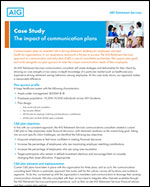The impact of communication plans to improve participant outcomes
