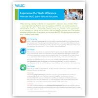 "VALIC Capabilities ""Why Choose VALIC"" Sales Flier"
