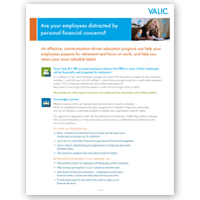 VALIC Participant Communication Sales Flier